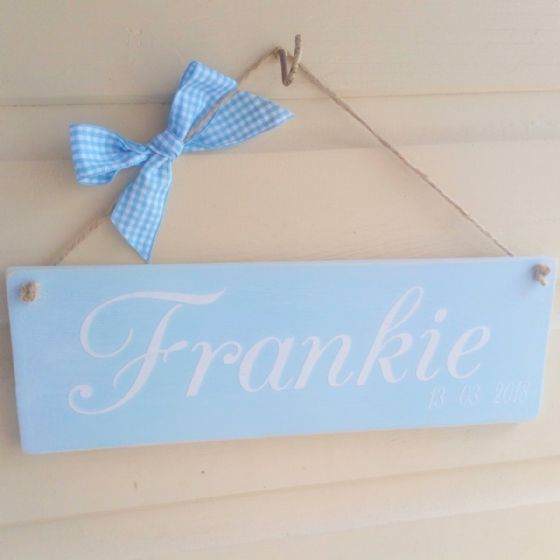 Chalk Painted Child's Dated Bedroom Sign